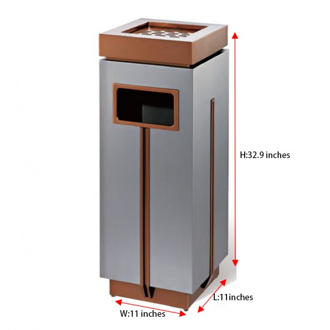 16 Gallon/60 Liter Finger Print Resistant Outdoor Indoor Stainless Steel Trash Can Garbage Bin